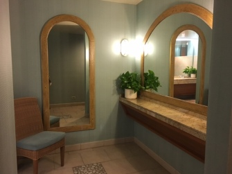 Beach-themed bathroom at Disney's Paradise Pier Hotel