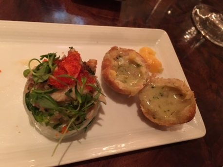 Lettuce Cup and Carthay Signature Fried Biscuit
