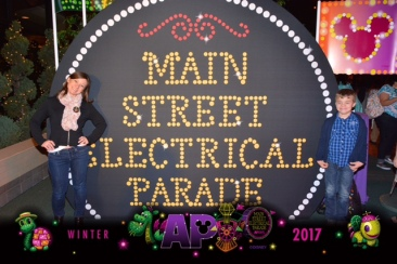AP Lounge Electrical Parade Photo Op