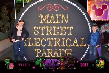 AP Lounge Electrical Parade Photo Op