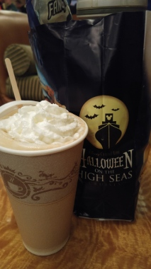 Pumpkin Spice Latte on the Halloween cruise